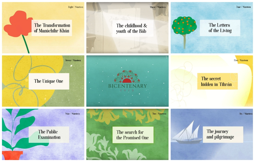 19 Animated Videos by the Baha'is of Ireland for the Bicentenary of the Birth of the Bab